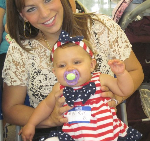 Baby Girl Mia in a Patriotic Outfit