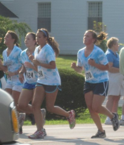 Girls Running Together