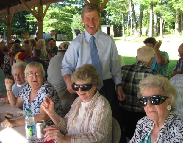 Governor Lynch Visits with Seniors at BBQ