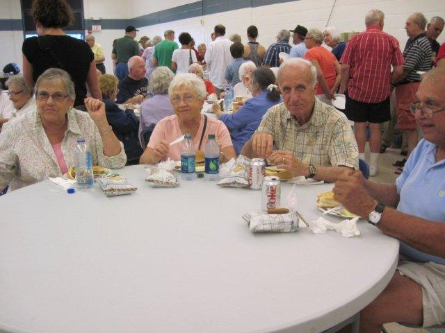 Seniors enjoy dinner